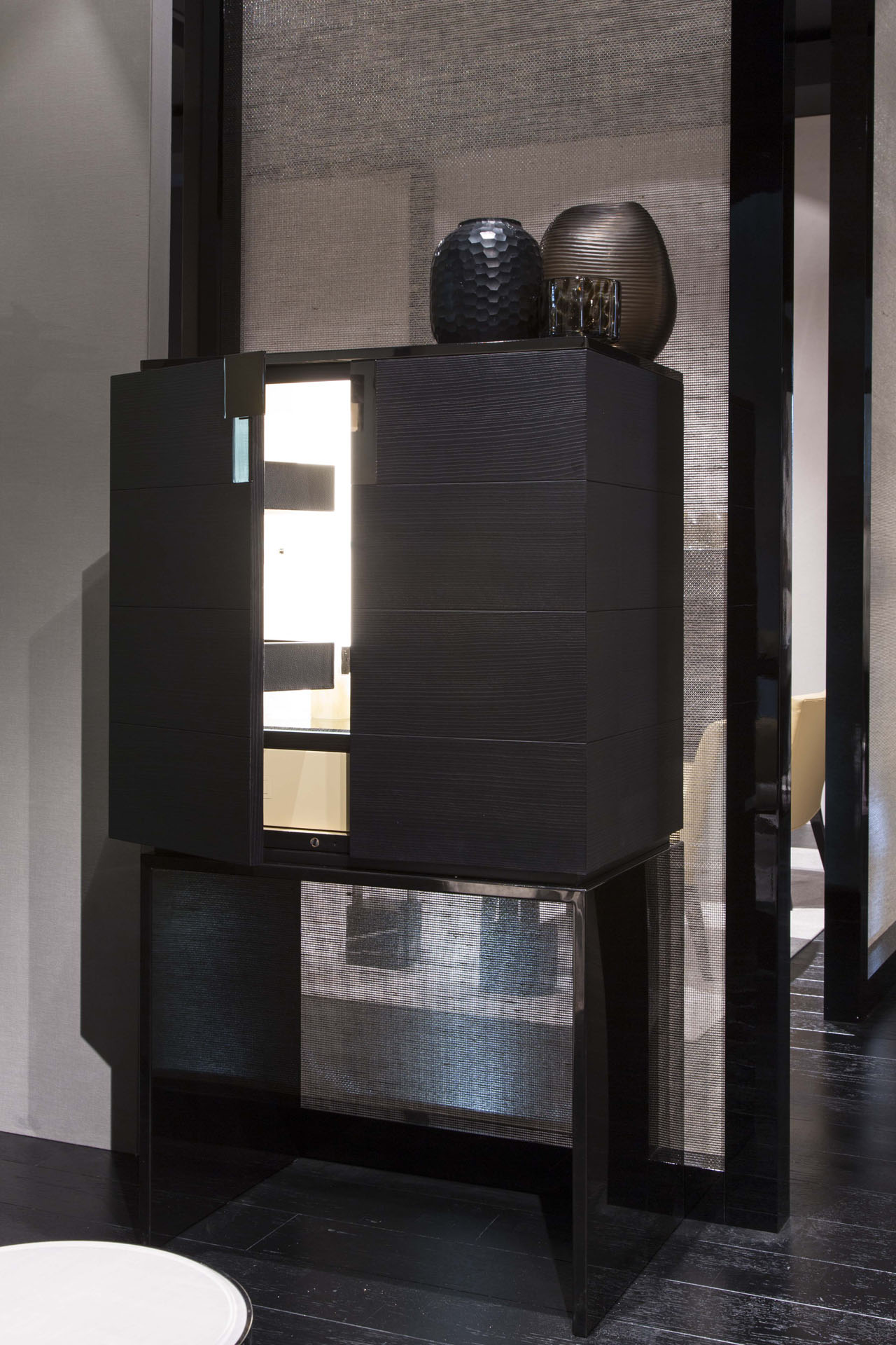 Black and More Bar Cabinet