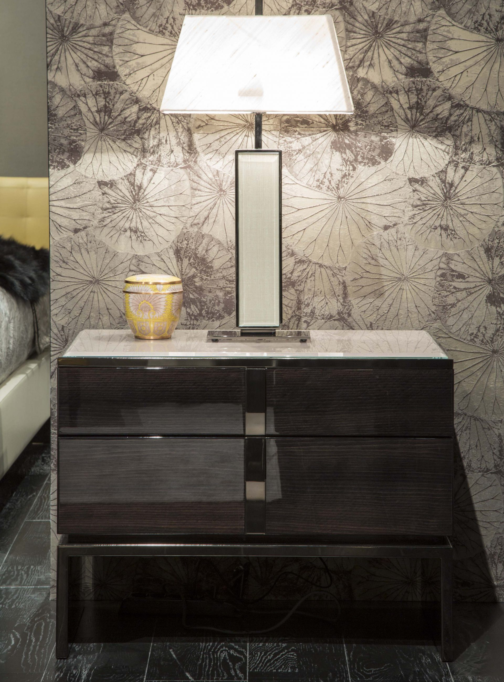 Black and More Bedside Table