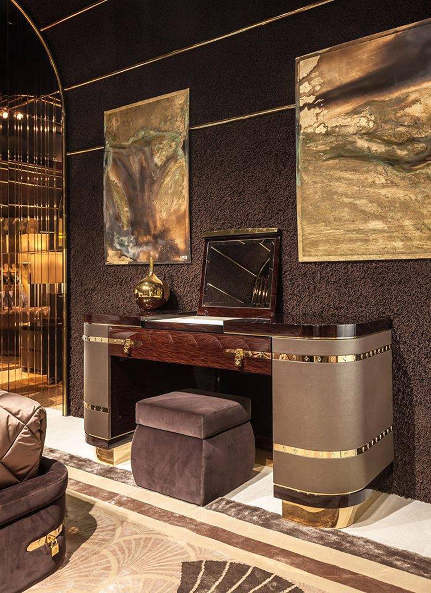 Diamond Vanity Desk