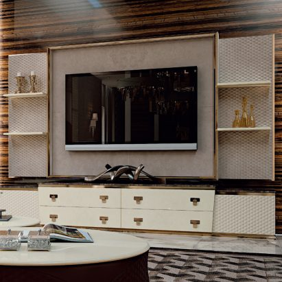 Vogue TV Leather Wall Unit