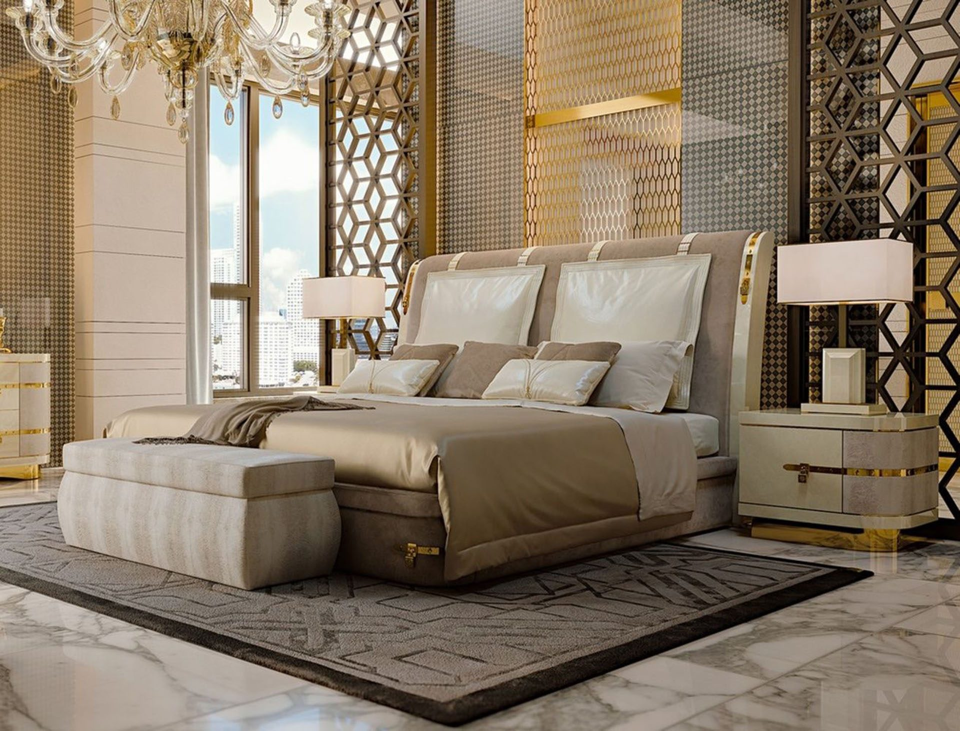 White Diamond Bed