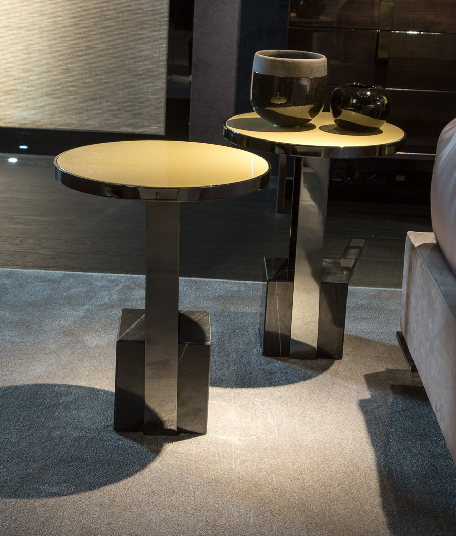 Black and More Round Side Table