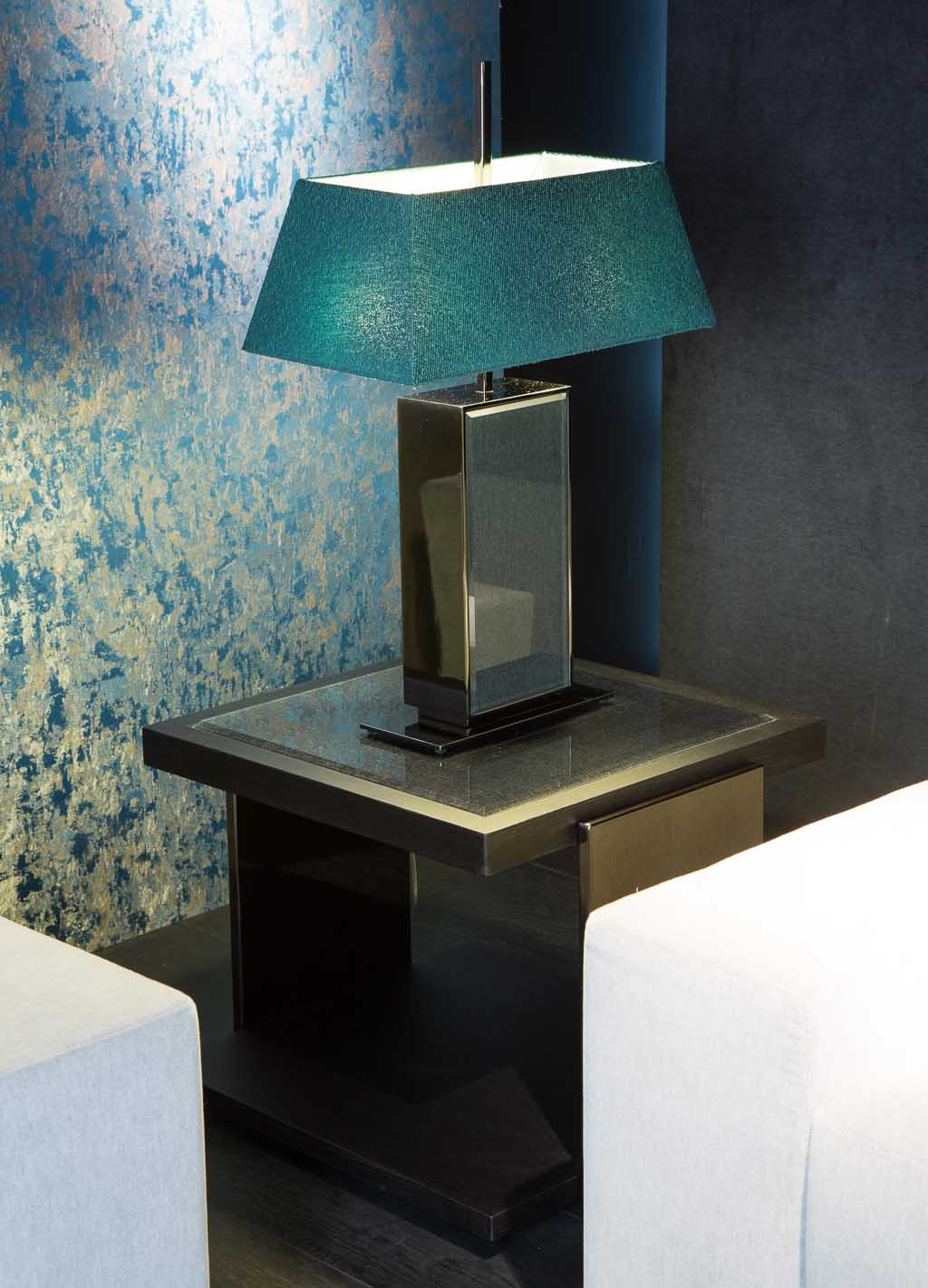 Black and More Square Side Table