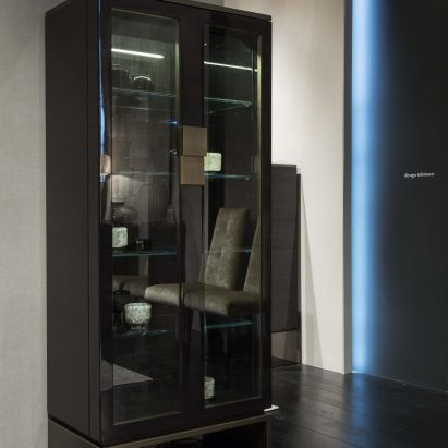 Black and More Display Cabinet