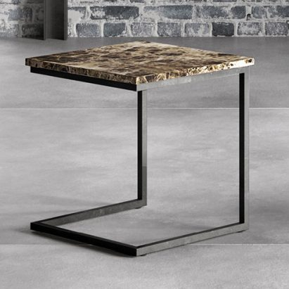 Glass/Marble Side Table