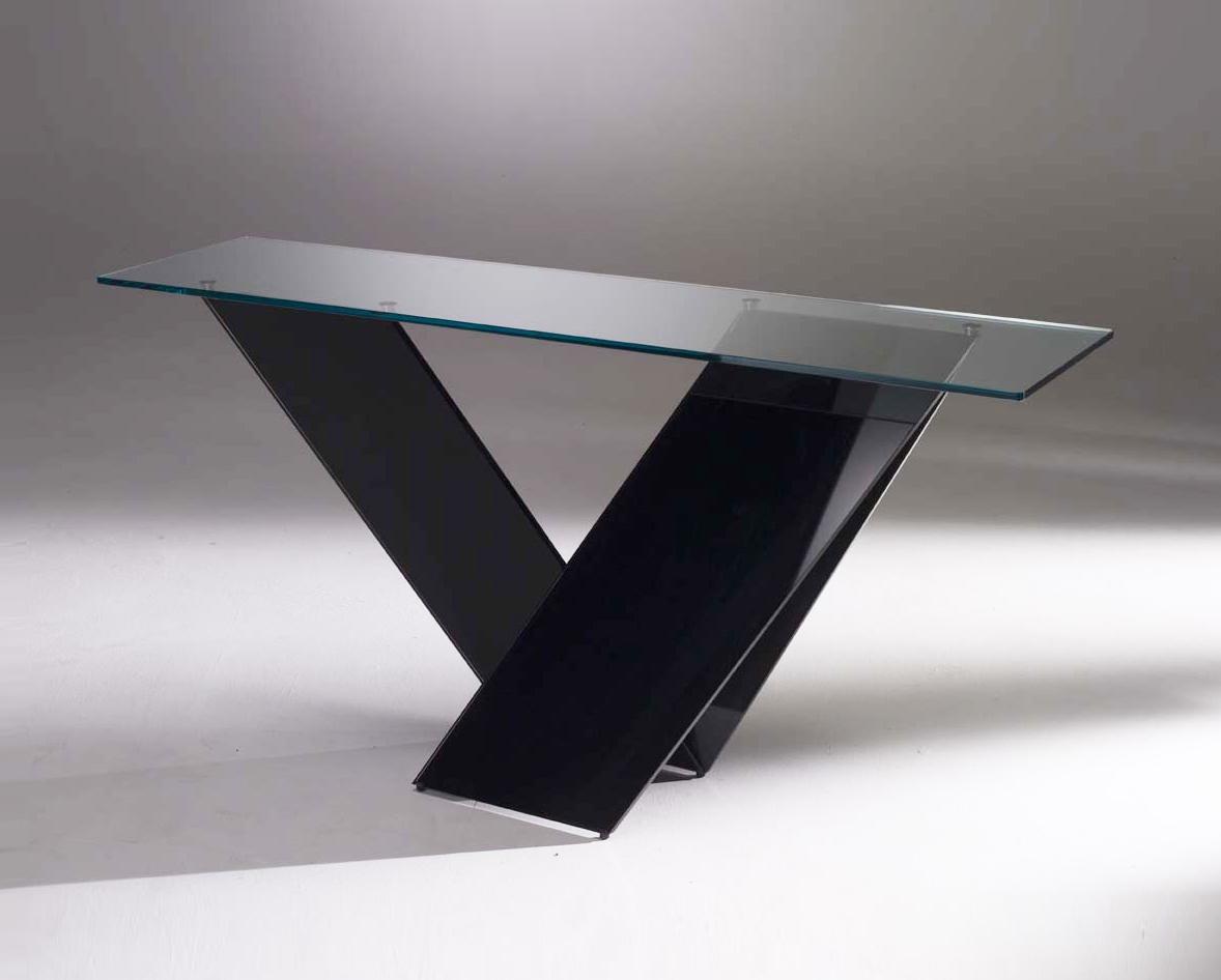 Prizma Glass Console Table