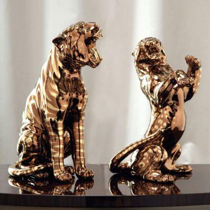 Sauvage Feline Sculpture