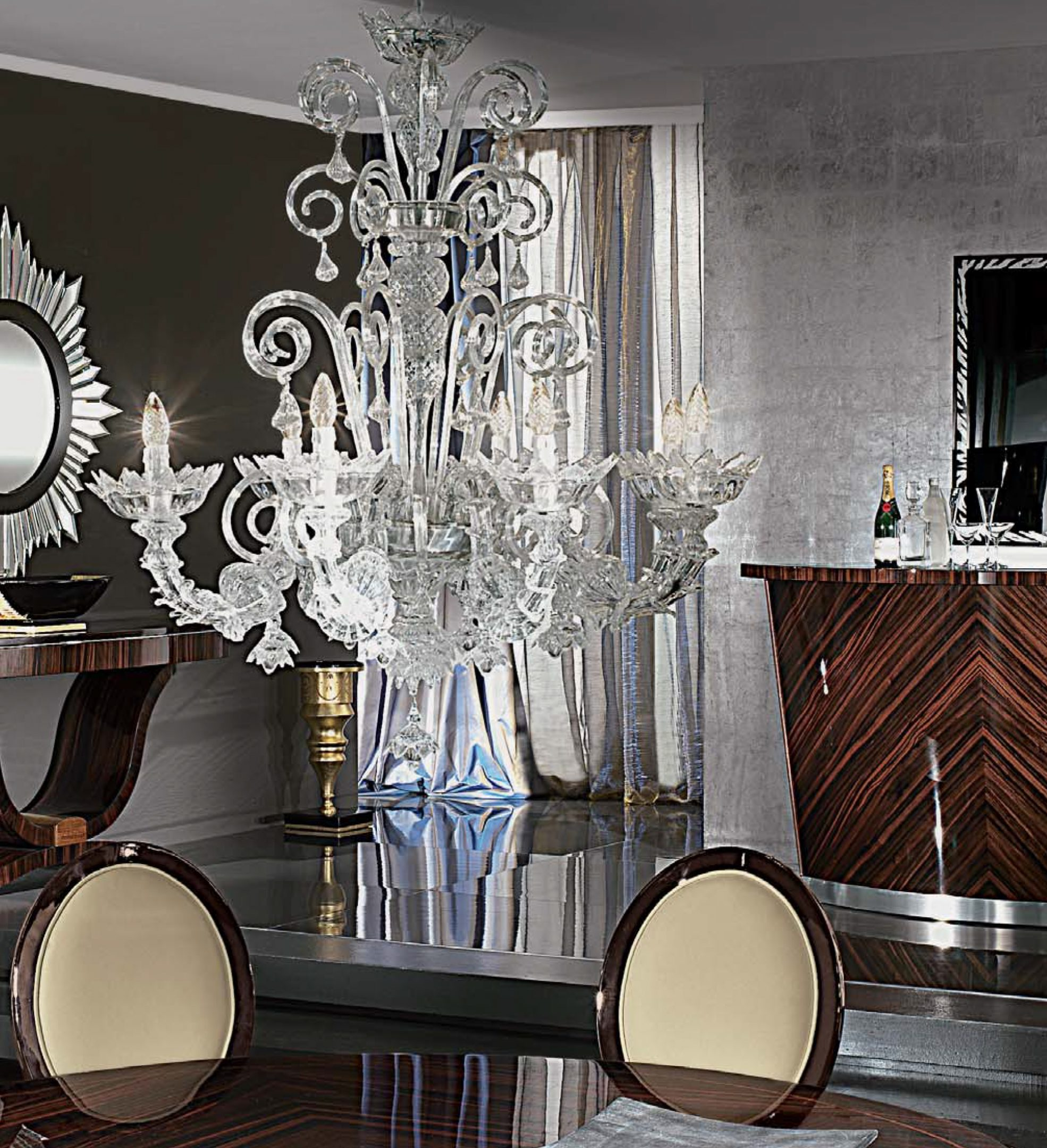 Art Deco Murano Chandelier
