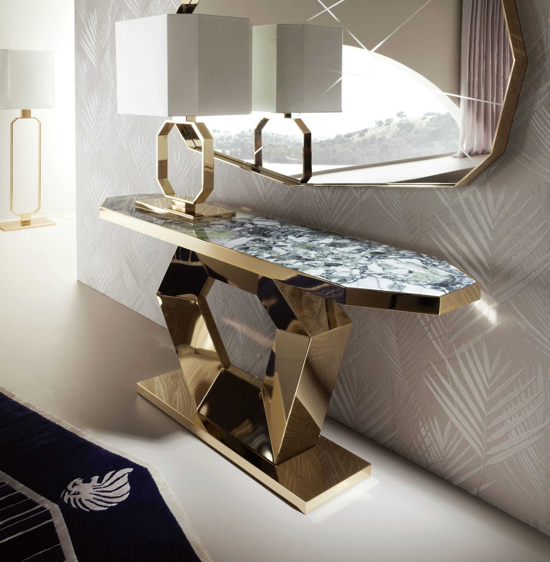 Infinity Metal Console Table