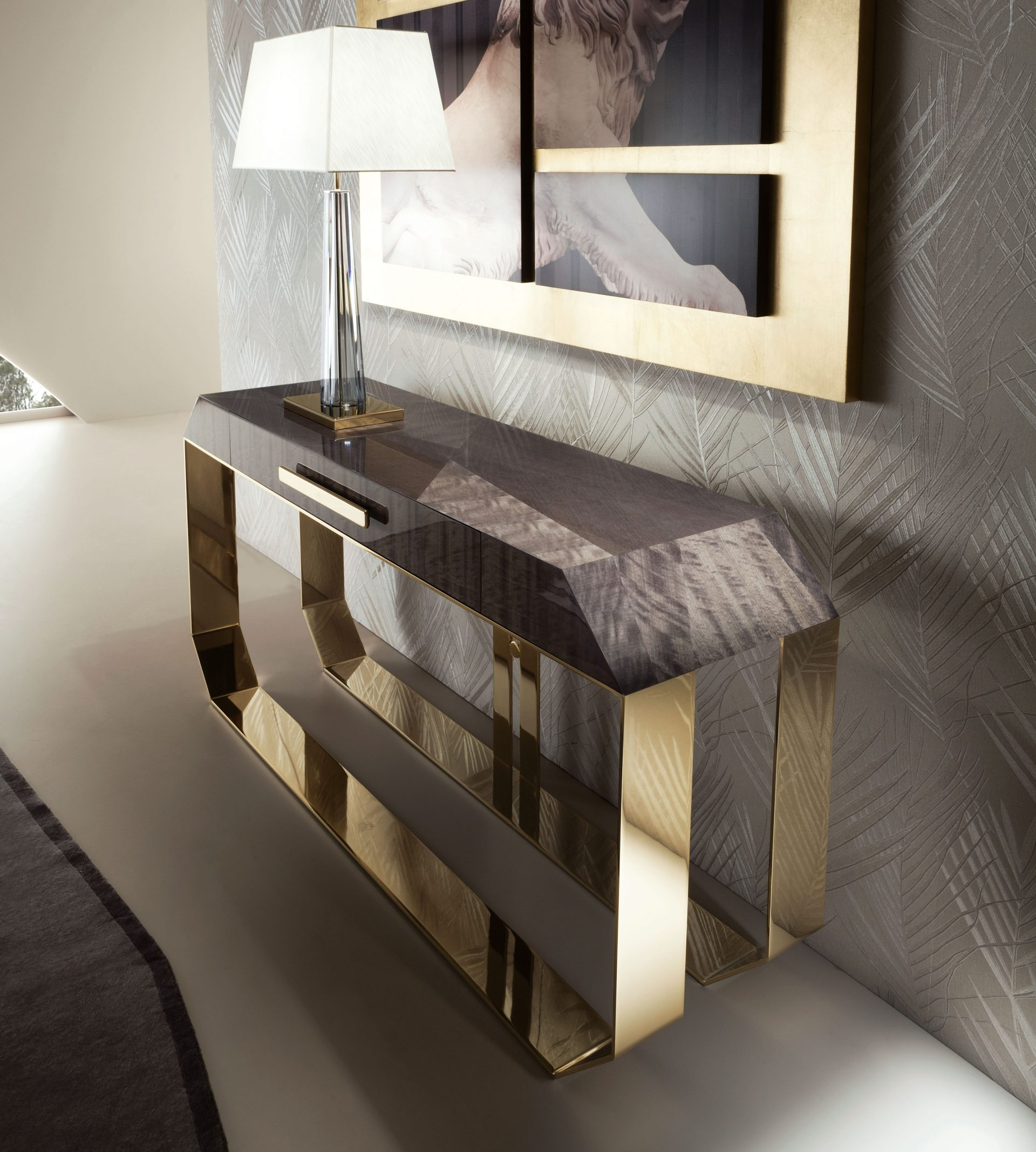 Infinity Timber Console Table