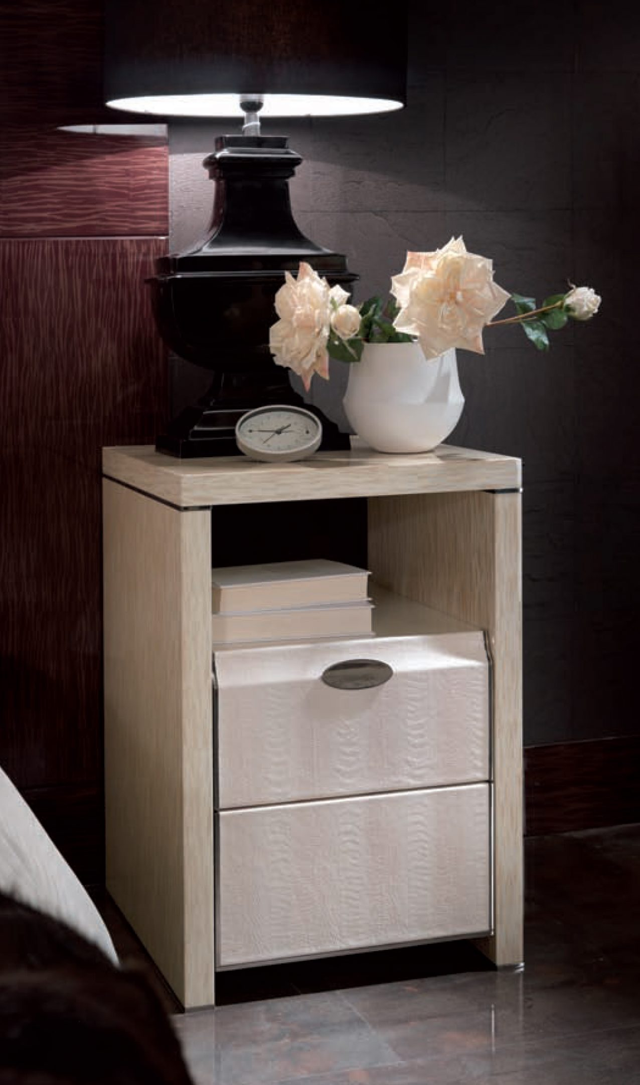 Genesis White Bedside Table
