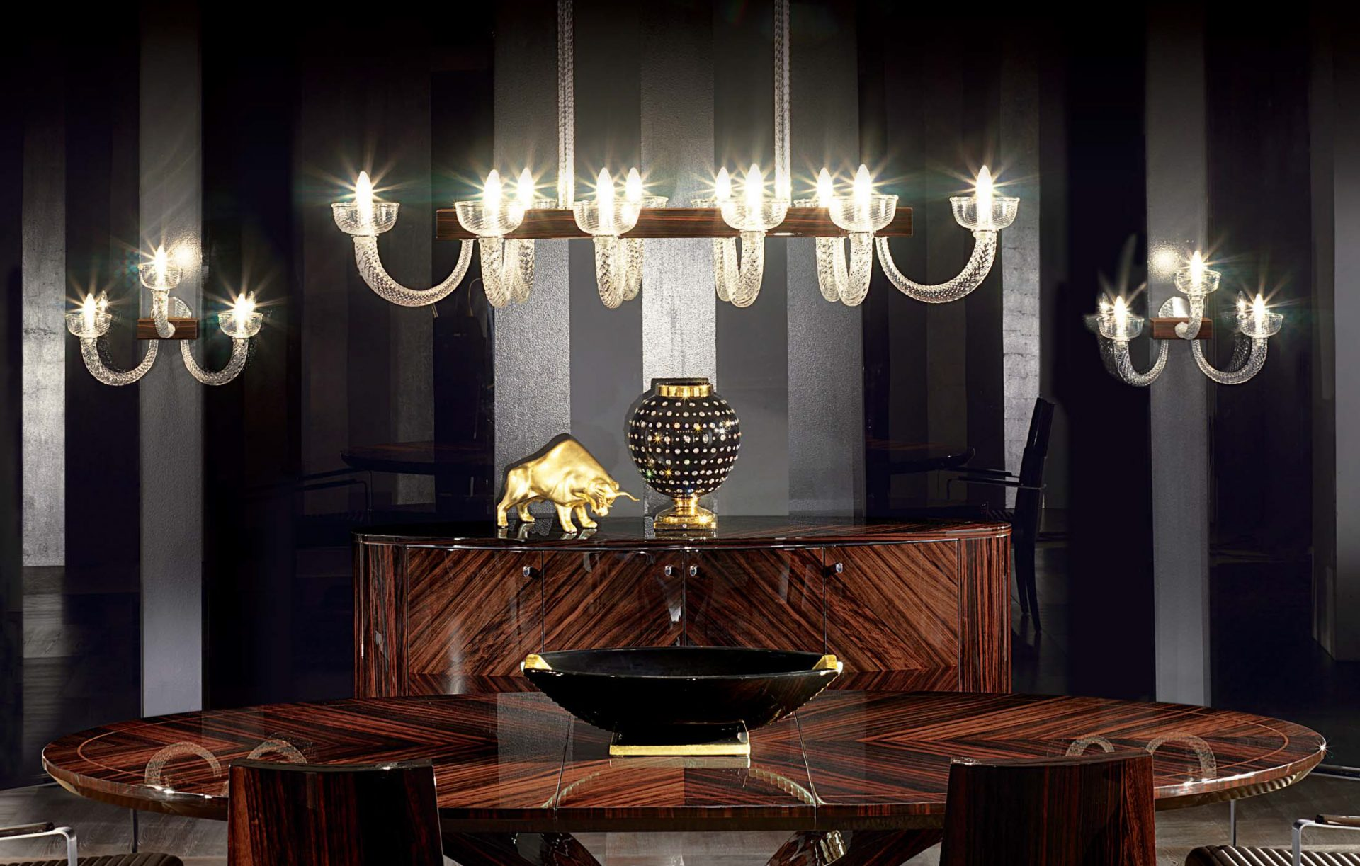 Art Deco Murano Wall Light