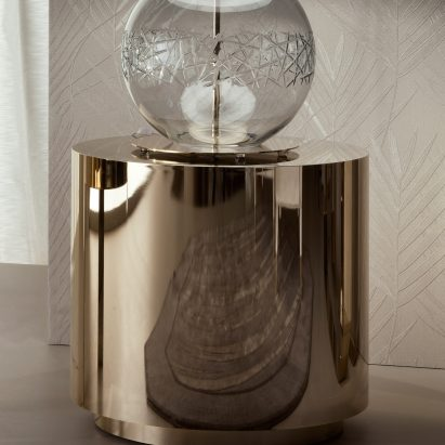 Infinity Round Gold Side Table