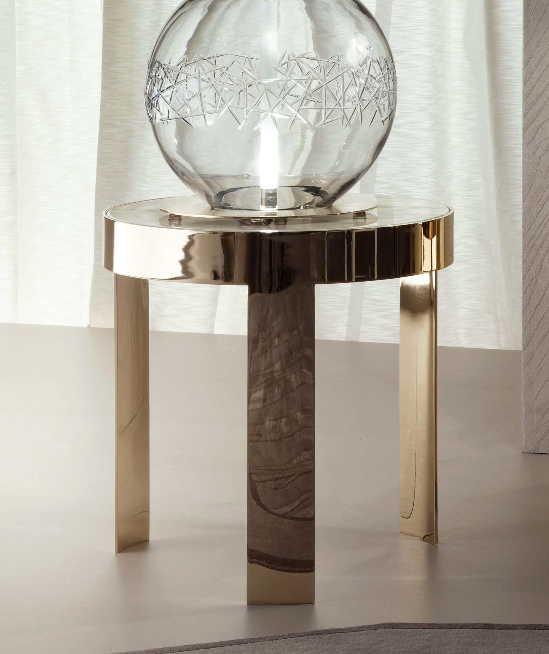 Infinity Round Marble Side Table