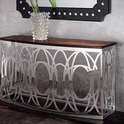 Luna Metal Console Table