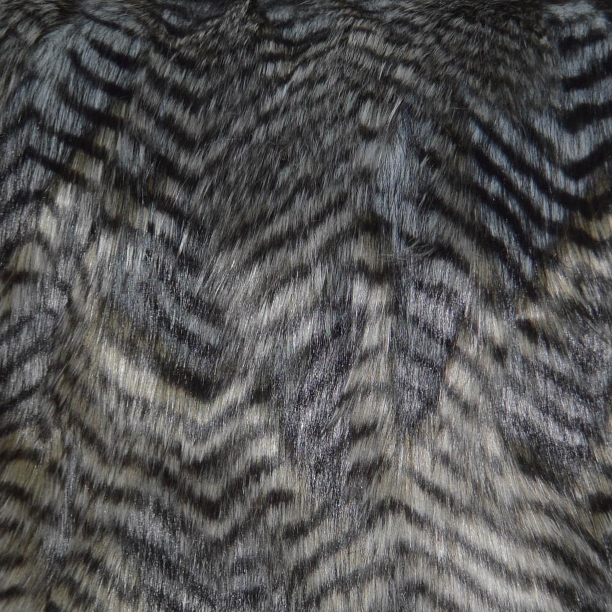 Faux Fur Fancy Black