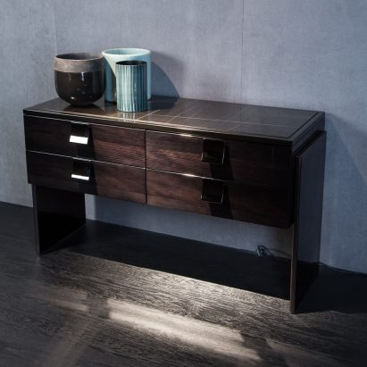 Black and More Small File Cabinet