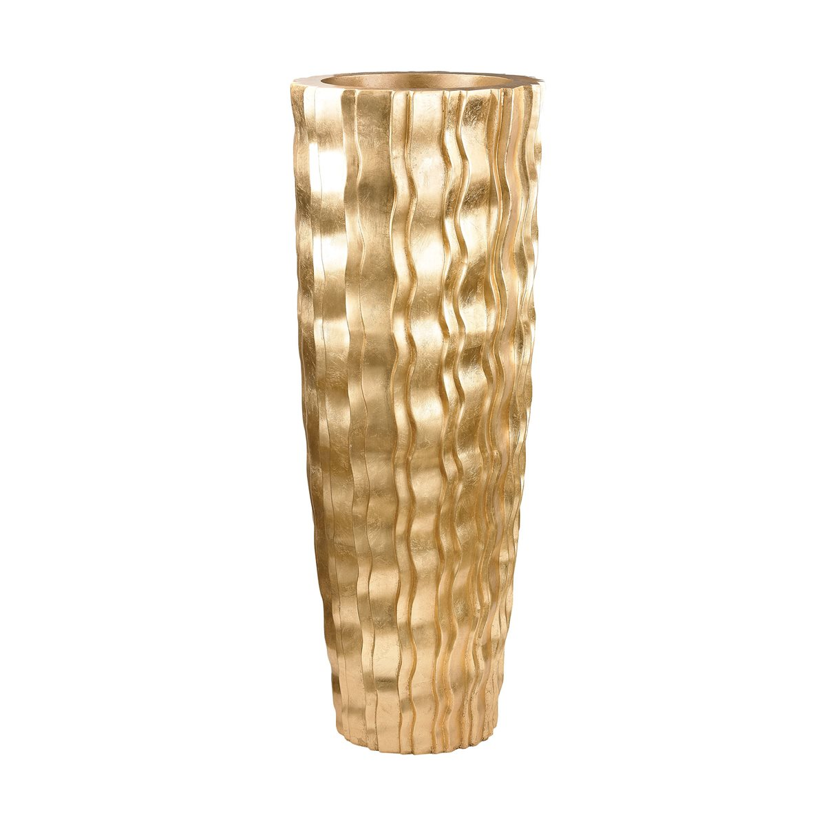 GOLD WAVE FLOOR VASE