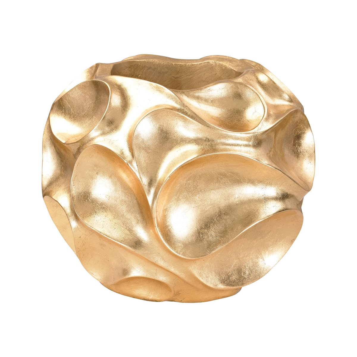 GOLD LEAF WAVE BOWL