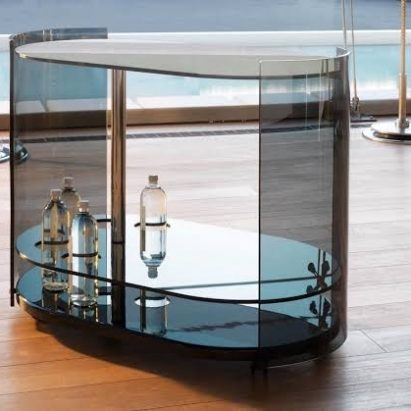 Thousand Glass Bar Cart