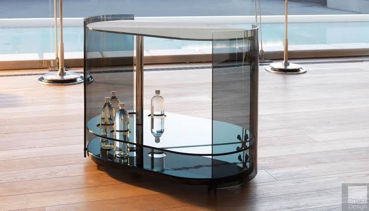 Thousand Glass Bar Cart