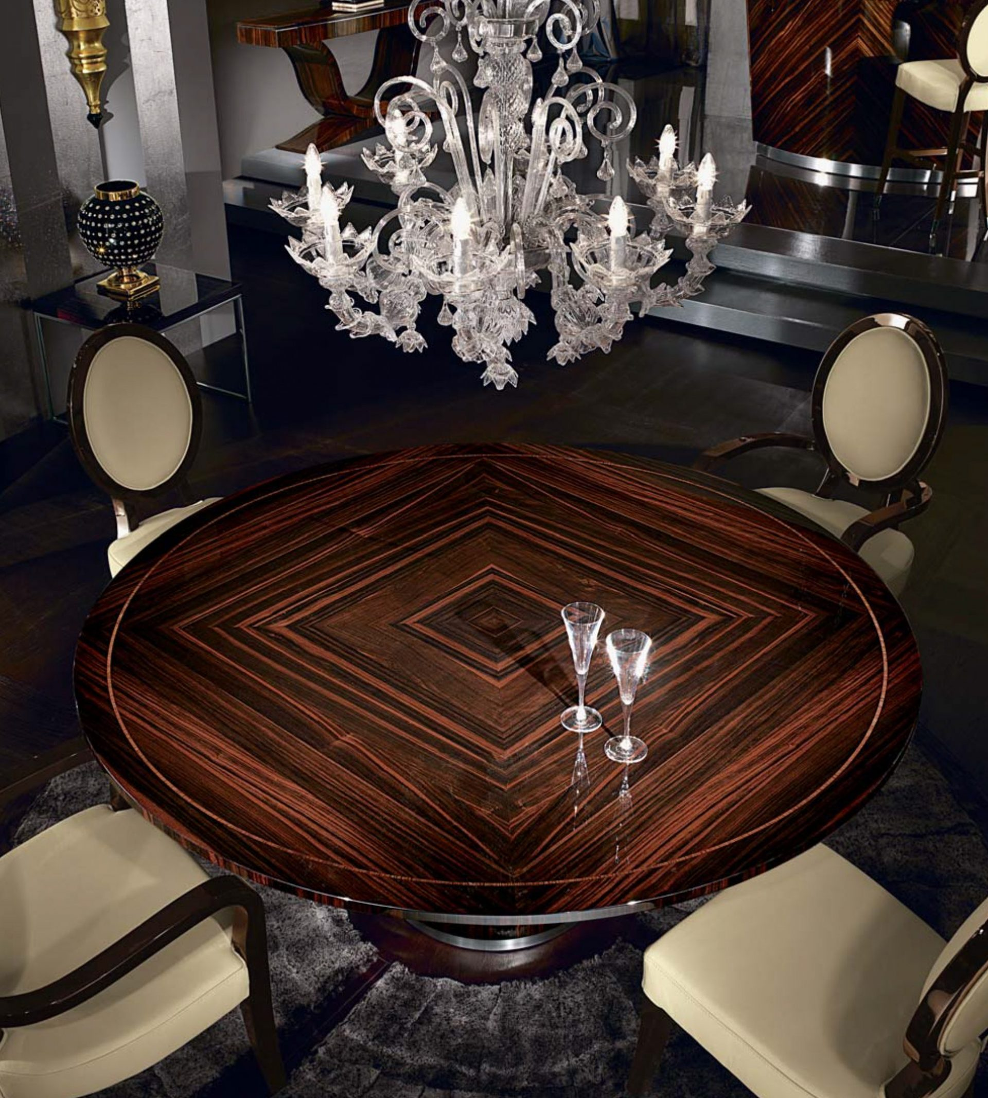 Luna Round Dining Table