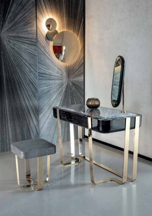 Charisma Vanity Desk Ottoman