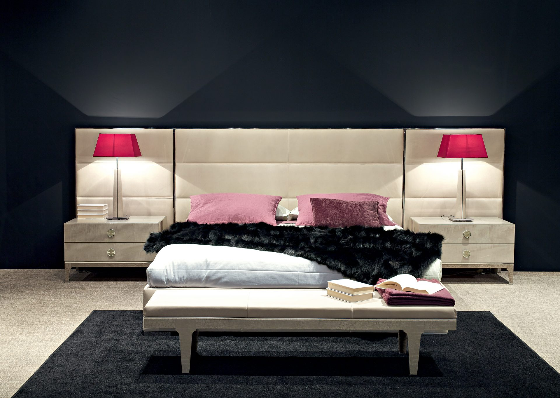 M Place Wide Headboard Bed