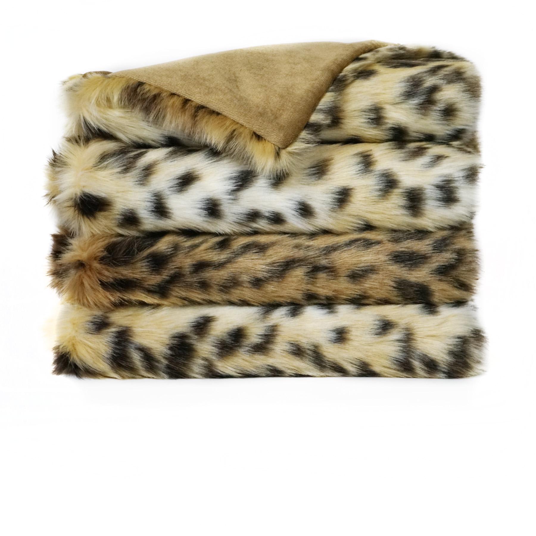 Faux Fur Throw – BOBCAT