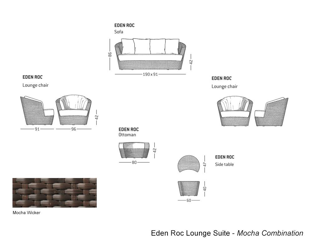 Outdoor – Eden Roc Mocha Lounge Suite