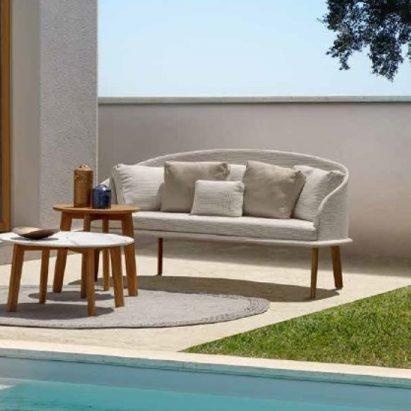 Cleo Wood Sofa Love Seat